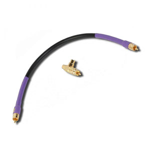 Analysis Plus Sub Oval  T Connector & 1 Foot Cable