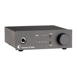 Black Pro-Ject Head Box S2 Digital Headphone Amplifier and DAC