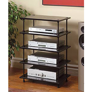 Salamander Archetype 5 0 Five Shelf Audio Rack Audio Advisor