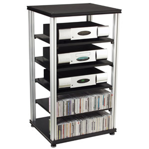 Salamander Synergy S40 Six Shelf Audio Rack-Audio Advisor