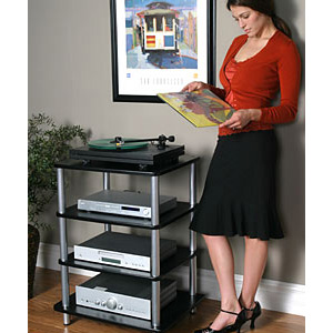 Sanus AFA Four Shelf Audio Rack