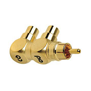 AudioQuest - Hard Y-Adapter - 1 Male to 2 Female RCA's