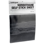 AudioQuest  Sorbothane Self Stick Sheet  6 inch x 6 inch x 0.10 inch