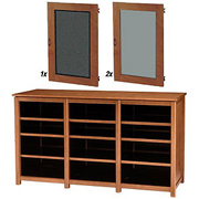 Sanus - Woodbrook - Triple-Wide Twelve-Shelf TV Cabinet