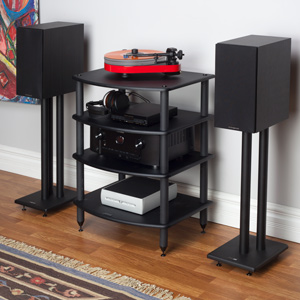 Pangea Audio Vulcan Four Shelf Audio Rack
