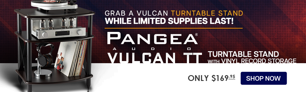 Pangea Audio Vulcan TT Turntable Stand with Vinyl Record Storage