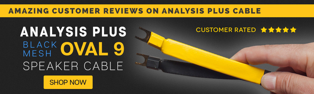Amazing Customer Reviews on Analysis Plus Black Mesh Oval 9 Speaker Cable
