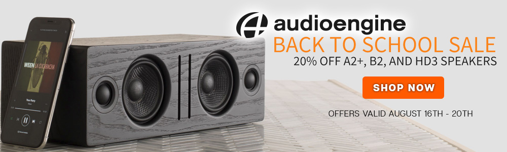 Audioengine Back-to-School Sale - 20% Off A2+, B2, and HD3 Speakers - Offers Valid August 16th-20th - Shop Now