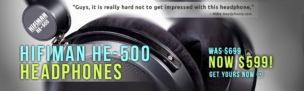 HiFiMan HE-500 Headphones Sale!