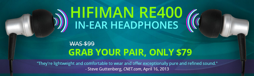HiFiMan RE-400 Headphones