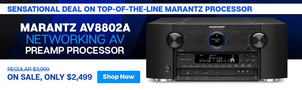 Sensational Deal on Top-of-the-Line Marantz Processor - Marantz AV8802A Networking AV Preamp Processor