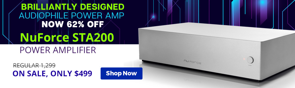 Brilliantly Designed Audiophile Power Amp Now 62% Off NuForce STA200 Power Amplifier - Regular $1,299, On Sale, Only $499 - Shop Now