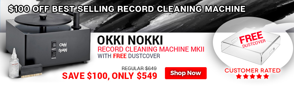 Okki Nokki Record Cleaning Machine MKII with FREE Dustcover