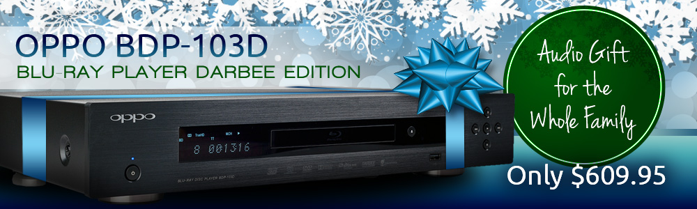 Oppo BDP-103D Blu-Ray Player Darbee Edition Holidays