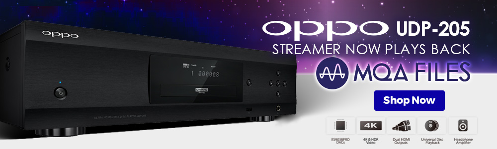 OPPO UDP 205 Now Streaming MQA Files