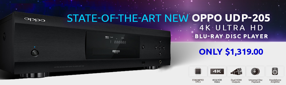 OPPO UDP 205 4K Ultra HD Blu ray Disc Player