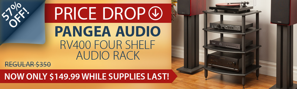 Pangea Audio RV400 Four Shelf Audio Rack Price Drop!