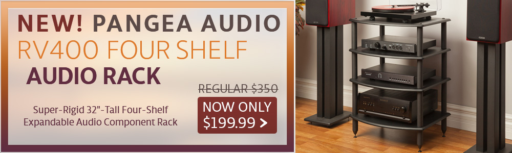 New! Pangea Audio RV400 Four Shelf Audio Rack