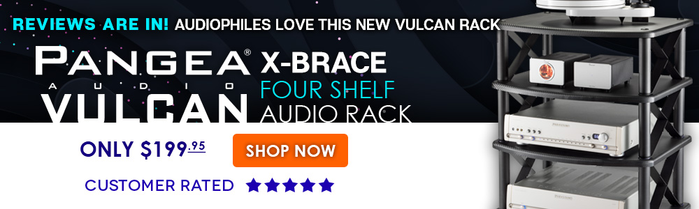 Pangea Audio Vulcan X Brace Four Shelf Audio Rack