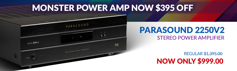 Parasound 2250v2 275 Watt Stereo Power Amplifier