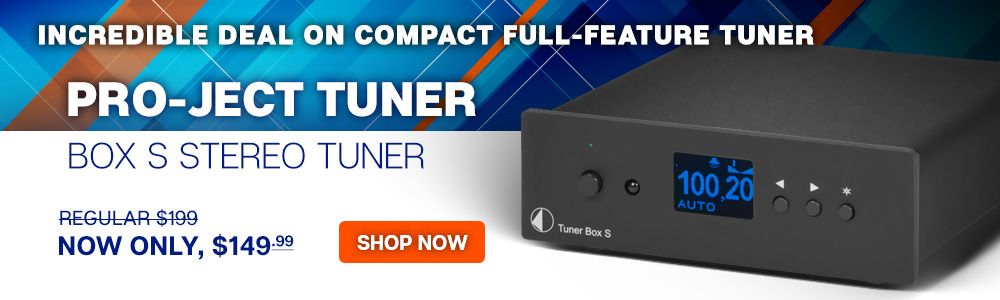 Incredible Deal on Compact Full-Feature Tuner - Pro-Ject Tuner Box S Stereo Tuner - Regular $199, Now Only $149.99 - Shop Now