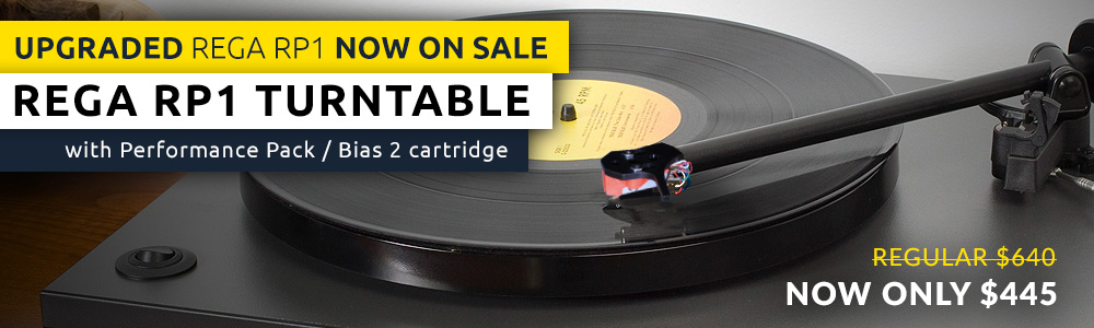 Rega RP1 Turntable w/Performance Pack / Bias 2 cartridge