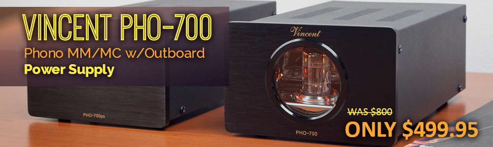 Vincent PHO 700 Phono MM/MC w/Outboard Power Supply